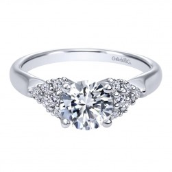 Gabriel 14 Karat Contemporary Engagement Ring ER10303W44JJ
