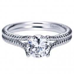 Gabriel 14 Karat Contemporary Engagement Ring ER8692W4JJJ