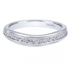 Gabriel 14 Karat Contemporary Wedding Band WB10451W44JJ