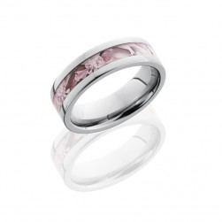 Lashbrook 6F13/KINGSPINK POLISH Titanium Wedding Ring or Band