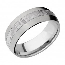 Lashbrook 8D13/METEORITE Titanium Wedding Ring or Band