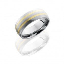 Lashbrook 8D21-14KY Angle Satin Titanium Wedding Ring or Band