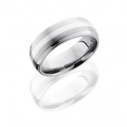 Lashbrook 8DGE12-SS Satin-Polish Titanium Wedding Ring or Band