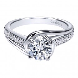 Gabriel 14 Karat Contemporary Engagement Ring ER10313W44JJ