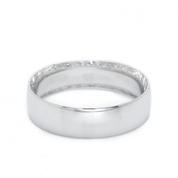 Tacori Platinum Hand Engraved Wedding Band 2551