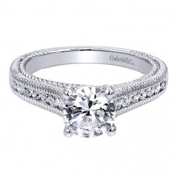 Gabriel 14 Karat Contemporary Engagement Ring ER10122W44JJ