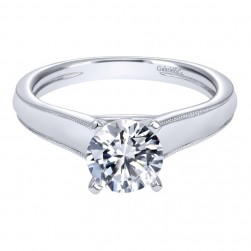 Gabriel 14 Karat Contemporary Engagement Ring ER10207W4JJJ