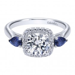 Gabriel 14 Karat Contemporary Engagement Ring ER10785W44SA