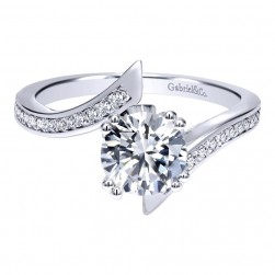 Gabriel 14 Karat Contemporary Engagement Ring ER11684R4W44JJ