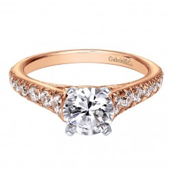 Gabriel 14 Karat Contemporary Engagement Ring ER8259T44JJ