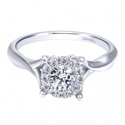 Gabriel 14 Karat Contemporary Engagement Ring ER910942W44JJ