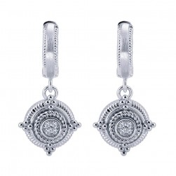 Gabriel Fashion Silver Roman Drop Earrings EG11243SV5JJ