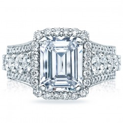 HT2613EC10X8 Platinum Tacori RoyalT Engagement Ring