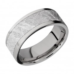 Lashbrook 8F16/METEORITE Titanium Wedding Ring or Band