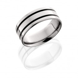 Lashbrook 8F21A POLISH Titanium Wedding Ring or Band