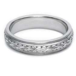 Tacori 18 Karat Hand Engraved Wedding Band GU86E