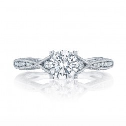 2645RD612 Platinum Tacori Classic Crescent Engagement Ring