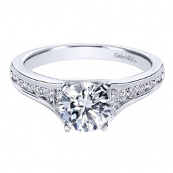Gabriel 14 Karat Contemporary Engagement Ring ER10476W44JJ