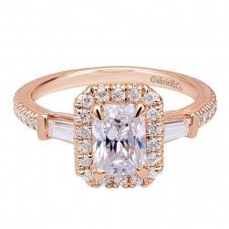 Gabriel 14 Karat Contemporary Engagement Ring ER7268K44JJ