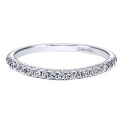 Gabriel 14 Karat Contemporary Wedding Band WB10936W44JJ