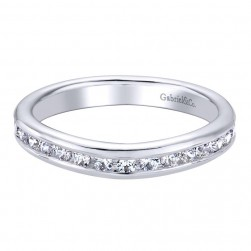 Gabriel 14 Karat Contemporary Wedding Band WB9719W44JJ