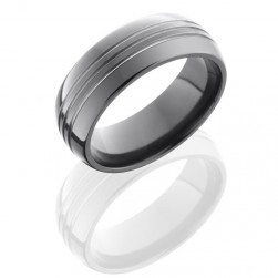 Lashbrook Z8D3.5 Polish Zirconium Wedding Ring or Band