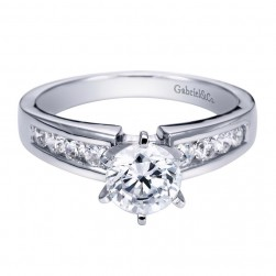 Gabriel 14 Karat Contemporary Engagement Ring ER2200W44JJ
