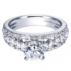 Gabriel 14 Karat Contemporary Engagement Ring ER4081W44JJ