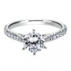 Gabriel 14 Karat Contemporary Engagement Ring ER6692W44JJ