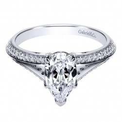 Gabriel 14 Karat Contemporary Engagement Ring ER8927W44JJ