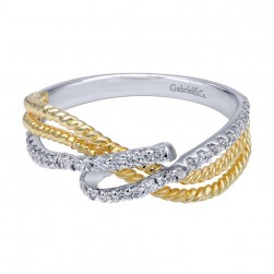 Gabriel Fashion 14 Karat Two-Tone Braided Ladies' Ring LR5441M45JJ