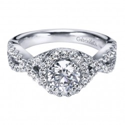 Gabriel 14 Karat Contemporary Engagement Ring ER5798W44JJ