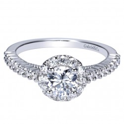 Gabriel 14 Karat Contemporary Engagement Ring ER98203W44JJ