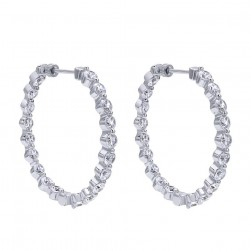 Gabriel Fashion 14 Karat Hoops Hoop Earrings EG10316W44JJ