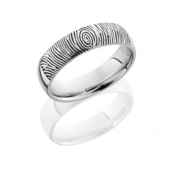 Lashbrook 14KW6D/LCVFINGERPRINT2 POLISH Precious Metal Wedding Ring or Band