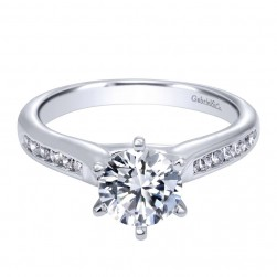 Gabriel 14 Karat Contemporary Engagement Ring ER10286W44JJ