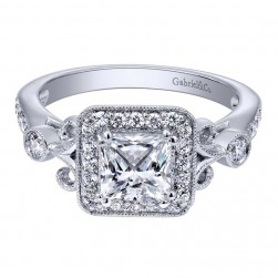 Gabriel 14 Karat Contemporary Engagement Ring ER10928W44JJ