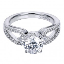 Gabriel 14 Karat Contemporary Engagement Ring ER6015W44JJ