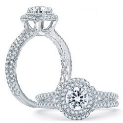 A.JAFFE Platinum Classic Engagement Ring ME1862Q