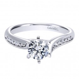 Gabriel 14 Karat Contemporary Engagement Ring ER10124W44JJ