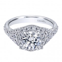 Gabriel 14 Karat Contemporary Engagement Ring ER10751W44JJ