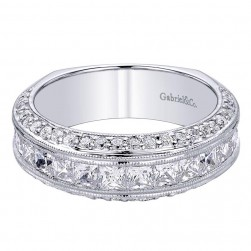Gabriel 14 Karat Contemporary Wedding Band WB9324W44JJ