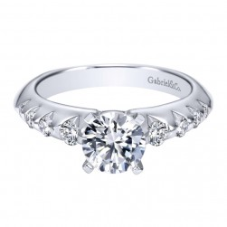 Gabriel 14 Karat Contemporary Engagement Ring ER8443W44JJ