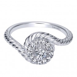 Gabriel 14 Karat Contemporary Engagement Ring ER98482W44JJ