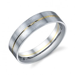 273806 Christian Bauer Platinum & 18 Karat Wedding Ring / Band