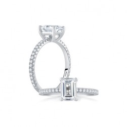 A.JAFFE Platinum Classic Engagement Ring ME1803
