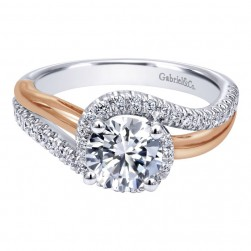 Gabriel 14 Karat Contemporary Engagement Ring ER10308T44JJ