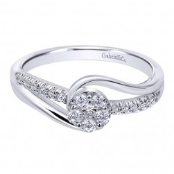 Gabriel 14 Karat Contemporary Engagement Ring ER10780W44JJ