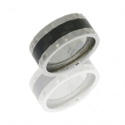 Lashbrook C9F14/CF POLISH Titanium Wedding Ring or Band