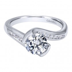 Gabriel 14 Karat Contemporary Engagement Ring ER10436W44JJ